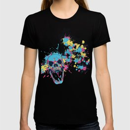Skull Flower Splatter T-shirt