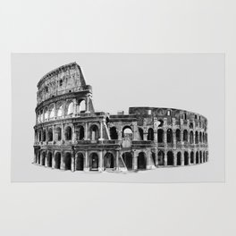Colosseum Drawing Rug