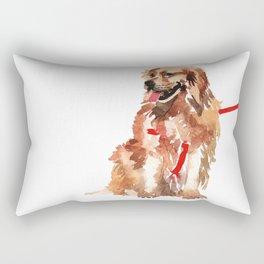 watercolor dog vol 17 golden retriever Rectangular Pillow