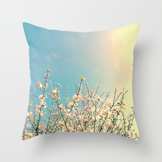 Bloom Pink Throw Pillow