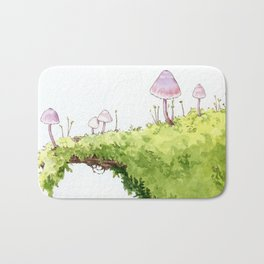 Mushrooms and Moss Bath Mat