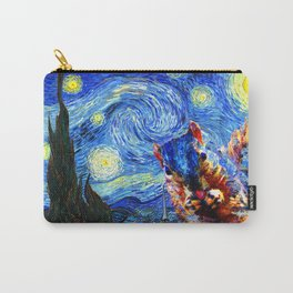 Starry Night Squirrel Photo Bomb Pop Art Carry-All Pouch
