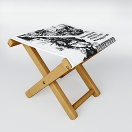 Never Underestimate, a Woman, who Loves, Tim Burton Movies, and was Born in December Folding Stool