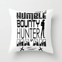 cowboy bebop Throw Pillows featuring Quote Bebop by AngoldArts
