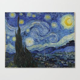 THE STARRY NIGHT - VAN GOGH Canvas Print