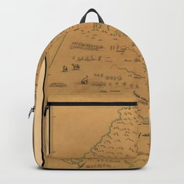 Map Of The Mississippi River 1682 Backpack