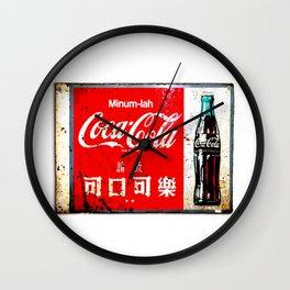 Singapore Cola Wall Clock