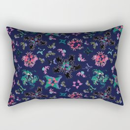 Exploding Stars and Flowers Rectangular Pillow