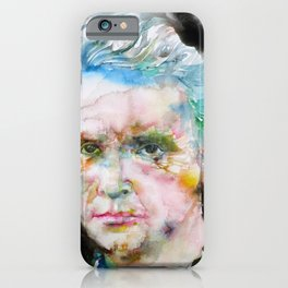 MARIE CURIE - watercolor portrait iPhone Case