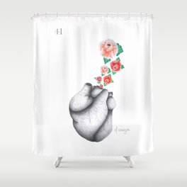 El Corazón — from the series Lotería Shower Curtain