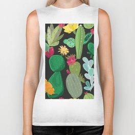 Cactus and Succulents Pattern Biker Tank