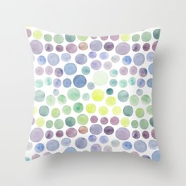 Dots purple and green Throw Pillow