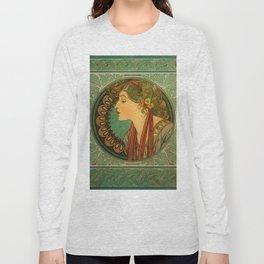 "Alphonse Mucha ""Laurel"" Long Sleeve T-shirt"