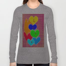 coloured love hearts Long Sleeve T-shirt