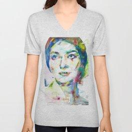 MARIA CALLAS - watercolor portrait.10 Unisex V-Neck