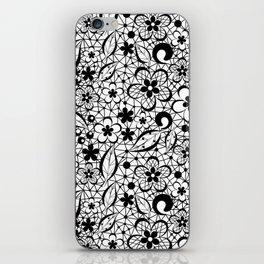 Black lace iPhone Skin