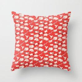 Toonimals! Throw Pillow