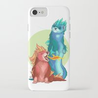 ferret iPhone & iPod Cases featuring Ferret Dragons by AlliePets
