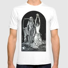 Death and the Maiden II MEDIUM Mens Fitted Tee White