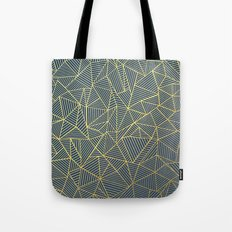 Ab Lines Gold and Navy Tote Bag