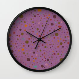 Polka Spots - Lavender  Wall Clock