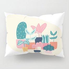 Cute House Plant  Pillow Sham