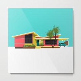 Mid Century House, Miami Metal Print