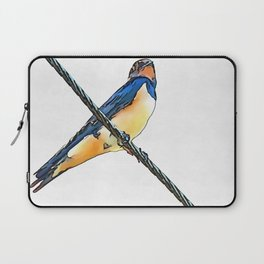 Swallow Bird On A Wire Laptop Sleeve