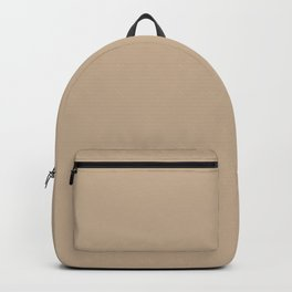 Pantone Hazelnut 14-1315 Trendy Earth Tone Solid Color Backpack
