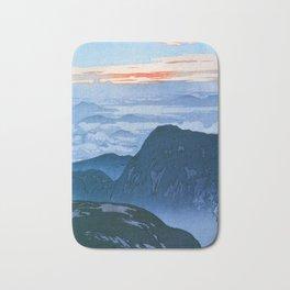 12,000pixel-500dpi - Yoshida Hiroshi - Japan Alps 12, Eboshidake Morning Sun - Digital Remaster Bath Mat