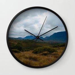 Button Grass Wall Clock