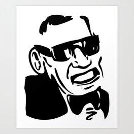 Face Ray Charles Art Print