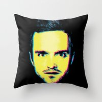 "jesse pinkman Throw Pillows featuring Breaking Bad ""Jesse Pinkman"" by Steal This Art"