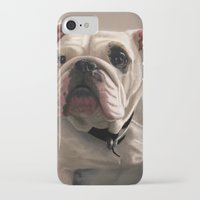 british iPhone & iPod Cases featuring British Bulldog by Mel Hampson