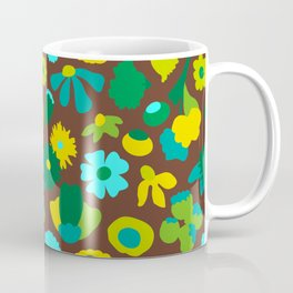 Mod Woodland Floral in Brown Coffee Mug