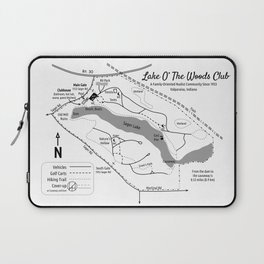 Lake O' The Woods Map O' The Grounds Laptop Sleeve