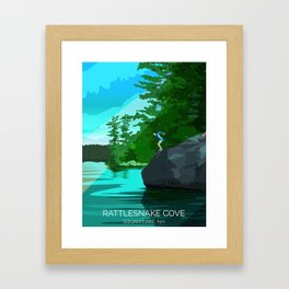 Jumping Rock on Squam Lake Framed Art Print