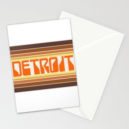 Detroit Travel Poster Stationery Cards