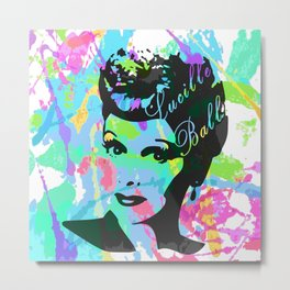 LUCILLE Metal Print