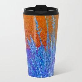 Blue Grass Red Travel Mug