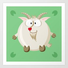 Goat from the circle series Art Print