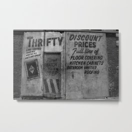 Thrifty Discount Prices Metal Print