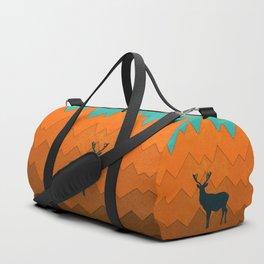 Deer silhouette in autumn Duffle Bag