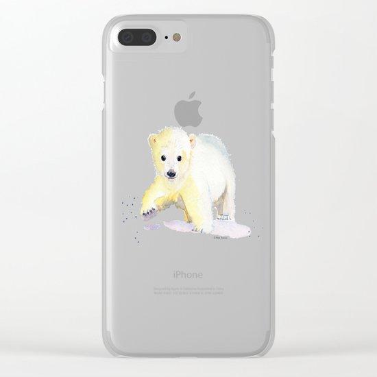 Little Polar Bear Clear iPhone Case
