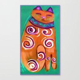 Cat Contemporary Canvas Print
