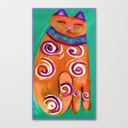 Cat Contemporary Canvas Print