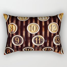 Vintage Numbers Rectangular Pillow