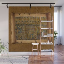 Ancient Egyptian Funerary Scroll pre 944 BC Wall Mural