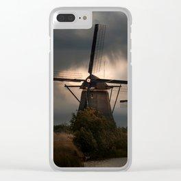 Dutch Windmills in Kinderdjik Clear iPhone Case