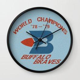 World Champion Braves Wall Clock